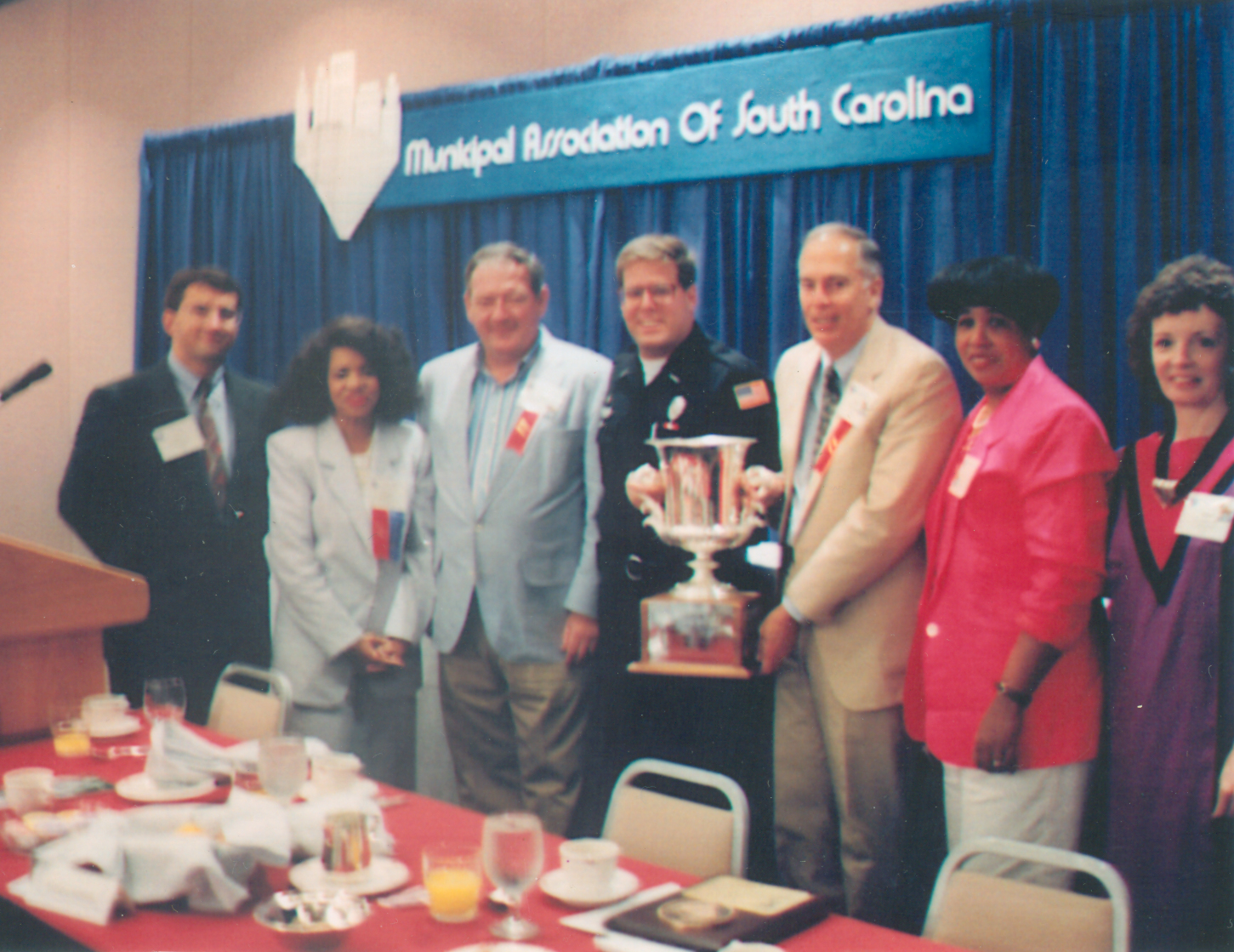 Photo of Lessie Price, Skipper Perry, Fred Cavanaugh, Beverly Clyburn, and others